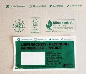 Produktvorschau Lieferscheintaschen aus Papier